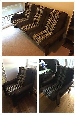 Vintage Retro 70s 3 Piece Lounge Suite