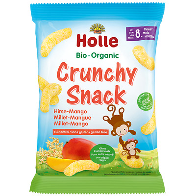 Holle Organic Crunchy Snack Millet-Mango 25g