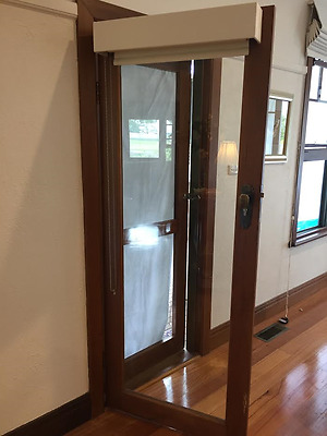 Beautiful Timber and Glass Door, with fly wire door included!