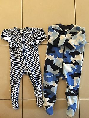 2 X Baby Boys Sleeping Suits Size 0. Bonds Wondersuit And Dymples
