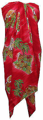 Sarong Allover Ocean scenic Tree Printed Beach Swimsuit Wrap Plus Size Pareo