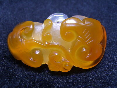 Chinese JADE agate Chalcedony Statue/ Pendant         2