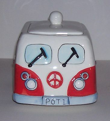 Red Kombi Style Cookie Jar - CAN ONLY POST ON FRIDAYS AT THE MOMENT