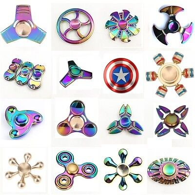 3D Fidget Hand Spinner Finger EDC Focus Stress Reliever Toys For Kids Adults Tri