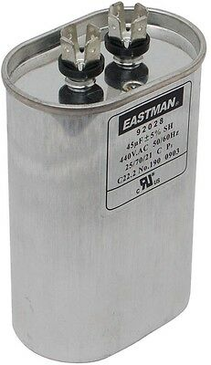 Eastman 45 MFD 440 VAC Oval Motor Run Capacitor Drawn Steel Case Construction