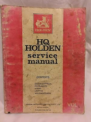 Holden Hq Genuine Factory Publication Vol 5 Service Manual M.37019