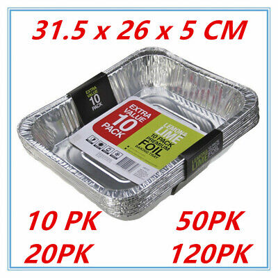 Aluminum Foil Trays BBQ Disposable Roasting takeaway Oven Baking Party TRAY FD