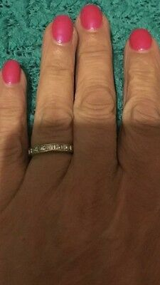 Ring Gold Diamond 9 Ct bought At Bevilles Size O