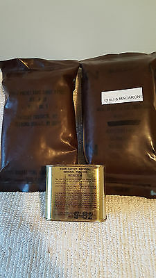 US Military Issue MRE's & Survival Food Packet (Lot of 3 items)