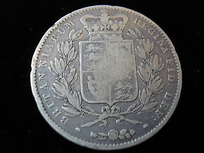 Great Britain 1845 Queen Victoria Sterling Silver Crown English Coin  #NLB1