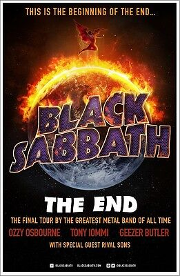 BLACK SABBATH The End Final Tour 2016 Ltd Ed RARE Poster +FREE Metal Rock Poster