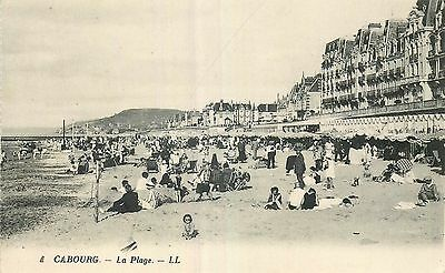 Cp Cabourg Plage Animee Ll