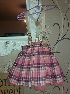 Next Tutu pink skirt with braces age 1.5-2 years 18-24 months
