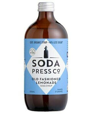 Soda Press Co Organic - Old Fashioned Lemonade Syrup 500ml