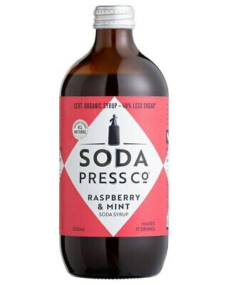 Soda Press Co Organic - Raspberry & Mint Syrup 500ml