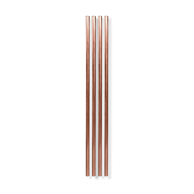 "W&P 25.4cm (10"") Copper Plated Straw (set of 4)"