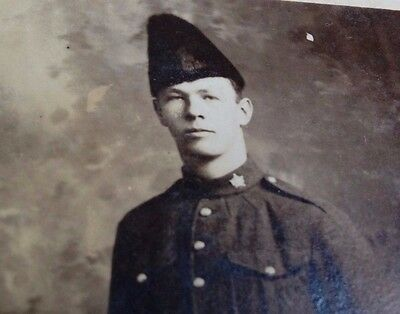 Rare WW1 Rp Postcard of soldier from the Canadian army