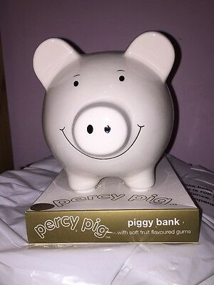 Marks & Spencer M&S Vintage Piggy Bank Percy Pig new Unused Coin Box