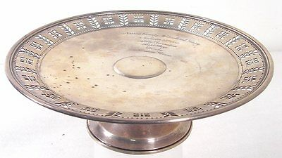 Tiffany Sterling Silver 1932 Cake Stand Tazza Horticultural Award Nassau County