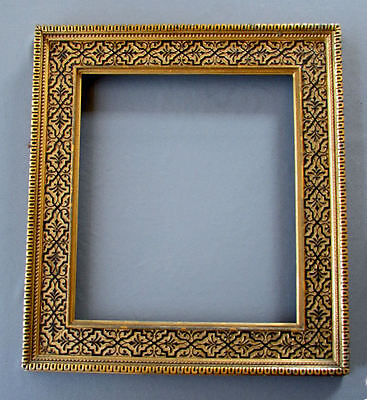 Antique AESTHETIC MOVEMENT Black on Gold GILT WOOD & GESSO PAINTING FRAME 1870