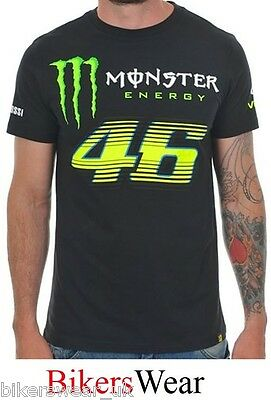c79f84e1f4ba VR46 Monster Energy Monza Black Valentino Rossi T-Shirt Casual Top 114604  Size S