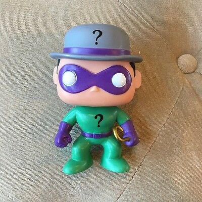 Funko Pop! #05 THE RIDDLER Batman Villian DC Universe Retired Vinyl (no box)