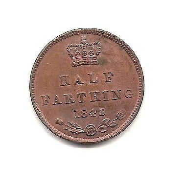 1843 Great Britain  Half Farthing--Very High Grade!!