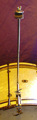 """1920-30s LEEDY  14"""" Hoop mounted Cymbal """"L"""" arm IMMACULATE Condition"""