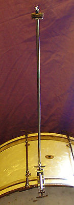 """1920-30s LEEDY  21"""" Hoop mounted Cymbal """"L"""" arm IMMACULATE Condition"""