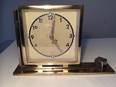 "VERY STYLISH 1930's ART DECO FRENCH 8-DAY DESK CLOCK - BY ""BAYARD"" WORKING ORDER"