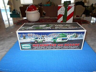 2012 Hess Helicopter and Rescue MINT IN original Box, Unused