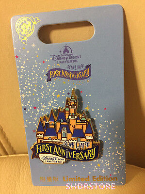 Limited 2000 Pin Castle First Anniversary Disney Shanghai Disneyland Le Park