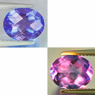 3.24Ct GLORIOUS Gem - Natural Amazing Purple Blue 2 Violet Color Change FLOURITE
