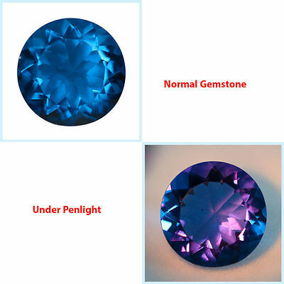 2.01Ct PLEASANT Gem - Natural Amazing Purple Blue 2 Violet Color Change FLOURITE