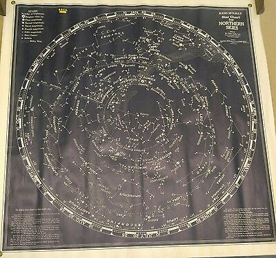 Vintage Northern Skies Chart Map Great Condition Office Decor Gift
