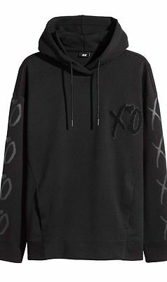 The Weeknd Xo 2017 Spring Icons Hoodie Xo Black Starboy Size L H&m