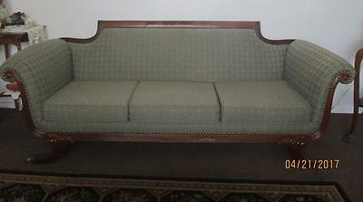 Lovely~Antique Duncan Phyfe Sofa Couch~7 Ft Long~New Upholstery~Refinished