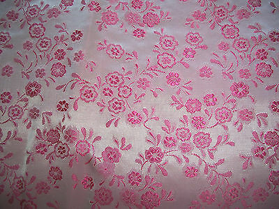 Vintage Japanese silk fabric 2 yards and 34 in.