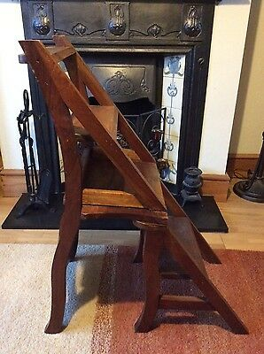 Antique Mahogany Metamorphic Library Steps/Chair