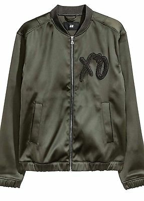 THE WEEKND XO 2017 SDark Khaki Green/Olive Black XO Bomber Jacket L