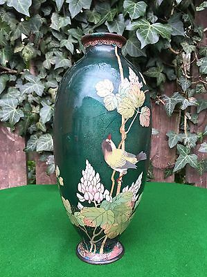 "Very Nice Antique Japanese 10"" Cloisonne Vase"