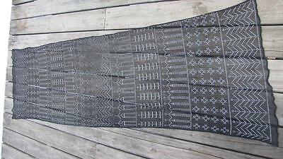 Vintage Art Deco 1920S Egyptian Assuit Shawl Black With Silver Exc