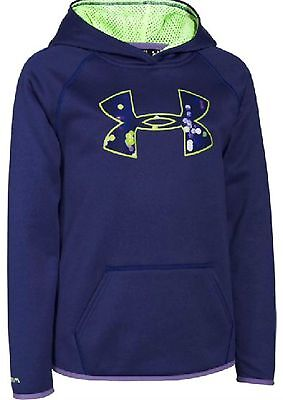 Girls Youth UA Under Armour Fleece Cold Gear Big Logo Hoodie Jacket Size Small