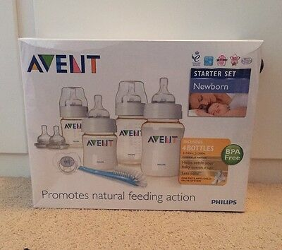 Philips Avent Newborn Starter Set Kit Brand New Bottles RRP £30