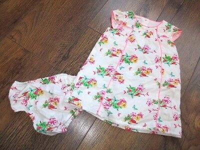 Ted Baker Girls Floral Dress And Knickers 6-9 Months