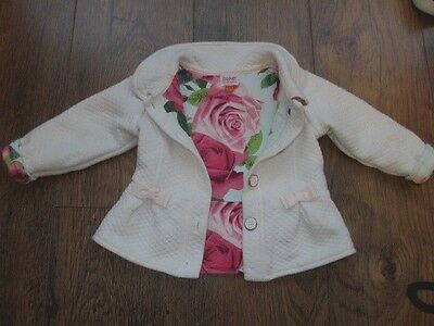 Ted Baker Baby Girls White Coat /Jacket Age 12-18 Months