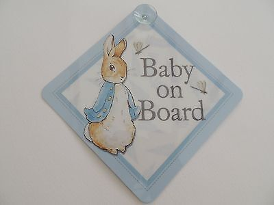 Peter Rabbit Baby on Board Car Sign/Window Wobblers - Beatrix Potter Centennial