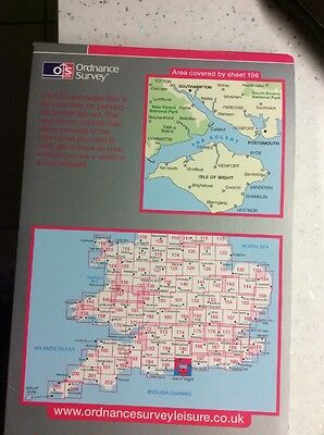 The Solent and the Isle of Wight, Southampton and Portsmouth (OS Landranger Map)