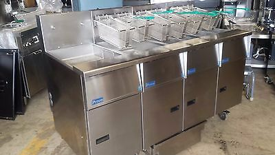 PITCO SGH50T  5 WELL GAS COMMERCIAL FRYER W/FILTER SYSTEM -energy saving model