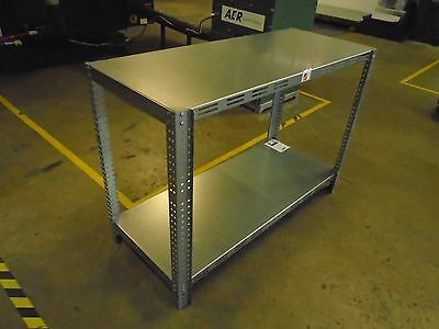 Galvanized Steel Shelving Heavy Table Commercial Industrial Garage Bench